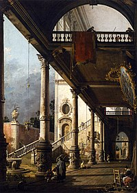 Giovanni Antonio Canal, il Canaletto - Perspective View with Portico - WGA03965.jpg