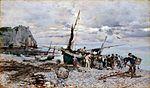 Giovanni Boldini - Le retour des bateaux de pêche, Étretat.jpg