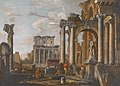 Giovanni Paolo Panini - Ruins with the Temple of Antoninus and Faustina - 47.185 - Indianapolis Museum of Art.jpg