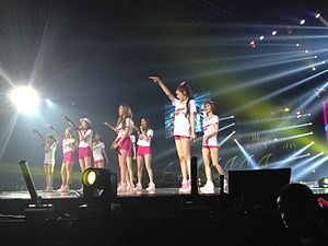 Girls' Generation World Tour Girls & Peace - Image: Girls Generation in Jakarta