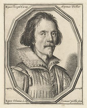Giuseppe Cesari - Portrait engraving by Ottavio Leoni (1621)