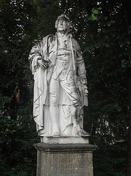 Standbild Glucks neben der Karlskirche in Wien (Quelle: Wikimedia)