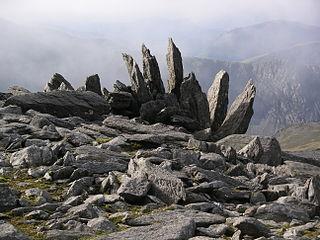 Glyder Fawr Mountain in Snowdonia, Wales