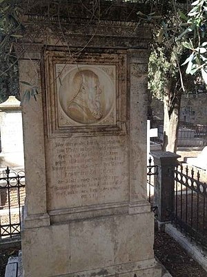 Samuel Gobat - Grave of Gobat and his wife Marie, Mt. Zion Cemetery, Jerusalem