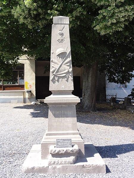 Gognies-Chaussée (Nord, Fr) monument aux morts