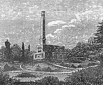 Woking Crematorium - The cremator at Woking Crematorium in the 1870s, before the chapel and buildings were constructed
