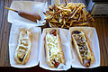 Gourmet hot dogs, corn dog and home fries.jpg