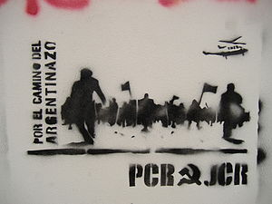 "Revolutionary Communist Party of Argentina - PCR graffiti: ""In the path of the Argentinazo!"""