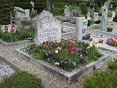 Graham Greenes gravplats i Corseaux i Schweiz.