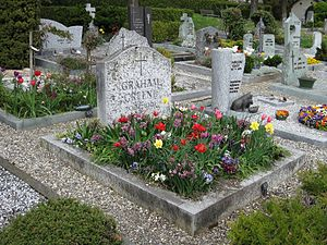 Graham Greene - Gravestone at Corseaux, Switzerland