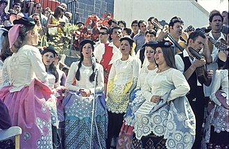 Canary Islanders - Canarian girls singing in Gran Canaria 1972.