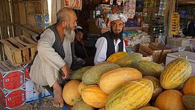 Great honey melons in Aqcha.jpg