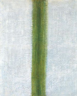 State Museum of Contemporary Art - The Green Stripe. A painting by Olga Rozanova.