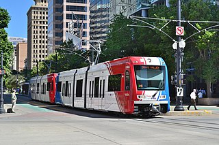 TRAX (light rail) light rail system in the Salt Lake County, Utah, United States