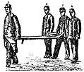 Grierson 135a Cuatro soldados llevando una camilla vacía.jpg