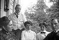 Gruppbild. Augusta Olson, Oscar, Signe och Anna Rydbeck, Waldemar Personne i Anneberg (Stocksund) - Nordiska Museet - NMA.0057030.jpg