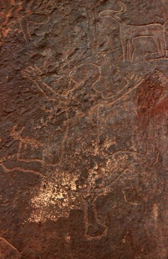 Rock art of south Oran (Algeria) - Image: Guelmouz el Abiodh.cl.2