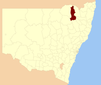 Gwydir Shire - Location in New South Wales