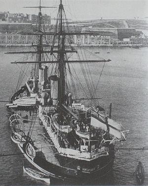 HMS Inflexible (1876) - Inflexible in 1881