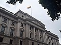 HM Treasury with LGBT flag for 50th Anniversary of Sexual Offences Act.jpg