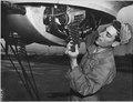 HQ., 20TH AIR FORCE, OKINAWA - As take-off time approaches, Airman Joseph Migliardi, 274 King St., Port Chester... - NARA - 542360.tif