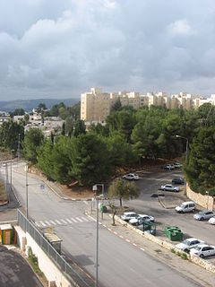 French Hill neighborhood and Israeli settlement in East Jerusalem