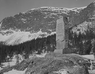Battle of Haglebu - Monument for the Norwegians who lost their lives in the battle