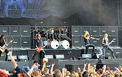 Hammerfall beim Wacken Open Air 2014