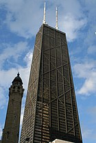 The John Hancock Center, the 3rd-tallest building in Chicago