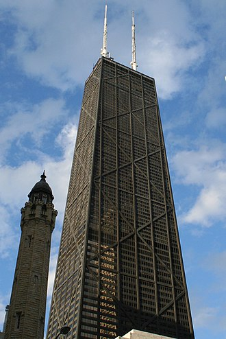 Streeterville - The John Hancock Center and the Chicago Water Tower are two notable Streeterville buildings.