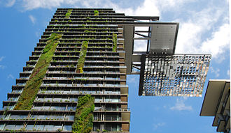 Green building - Hanging gardens of One Central Park, Sydney