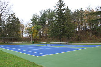Hardcourt - Tennis hardcourt, Curtiss Park, Saline, Michigan