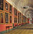 Hau. Interiors of the Small Hermitage. The Northern Part of the Romanov Gallery. 1864 crop.jpg