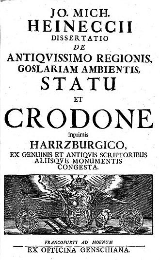 Rod (Slavic religion) - Image: Heineccius De Crodone Harrzburgico
