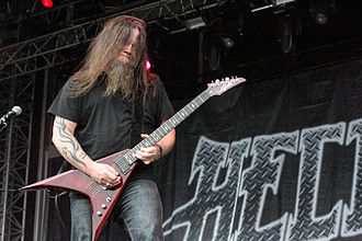 Hellyeah - founding guitarist Greg Tribbett, who was in the band from 2006 until 2014