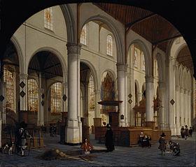 The interior of St Janskerk at Gouda