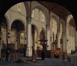 Sint Janskerk - Image: Hendrick van Vliet The interior of St Janskerk at Gouda Google Art Project