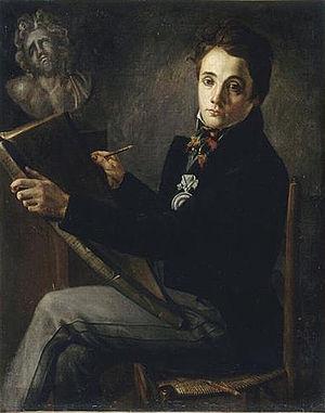 Philippe Joseph Henri Lemaire - Portrait of Henri Lemaire  by Félix Auvray (1818)