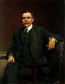 Henry Solomon Wellcome, 1906; three-quarter length. Oil pain Wellcome V0018107.jpg