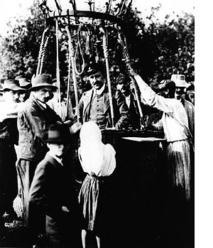 Cosmic ray - Hess lands after his balloon flight in 1912.
