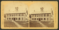 High School building with students, from Robert N. Dennis collection of stereoscopic views.png