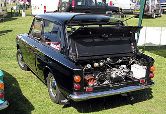 Hillman Imp - Hillman Imp, with the engine cover and the rear window lifted