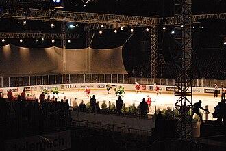 HDD Olimpija Ljubljana - Olimpija vs EC KAC at Bežigrad Stadium in 2012–13 Austrian Hockey League season