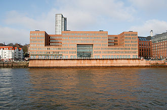 "Kees Christiaanse - ""Vexierbild"" (picture puzzle), a Holzhafen building in Hamburg, Germany, designed by Christiaanse's ASTOC firm"