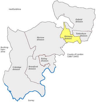Hornsey (UK Parliament constituency) - Image: Hornsey 1885