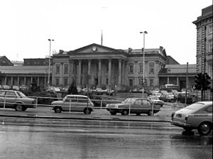 Huddersfield railway station - Huddersfield railway station in 1980