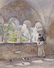 Cloister in Cistercian Millstadt Abbey