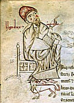 Hugh, Margrave of Tuscany - A later medieval miniature of Duke Hugh ( Ugo dux)