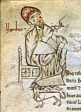 Hugh, Margrave of Tuscany - A later medieval miniature of Duke Hugh (Ugo dux)