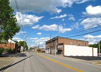 Hustonville, Kentucky - Main Street (KY 78) in Hustonville